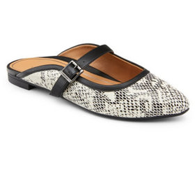 Vionic Leather Mary Jane Mules - Esme Snake - A445