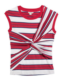 Habitual Striped Twist-Front Top
