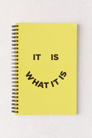 Deny Graphic Print Notebook
