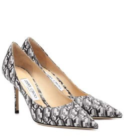 Jimmy Choo Love 85 printed leather pumps