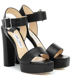 Jimmy Choo Maie 125 platform leather sandals
