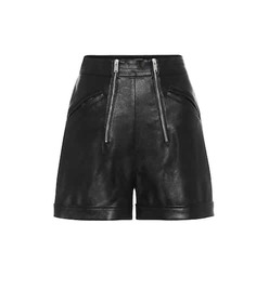 Stella McCartney Faux-leather high-rise shorts