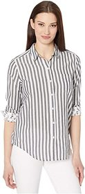 Lucky Brand Long Sleeve Button-Up Striped Classic