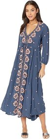 Free People Free People - Embroidered V Maxi Dress