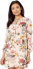Vince Camuto Printed Chiffon Float with Self Cordi