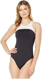 LAUREN Ralph Lauren Bel Aire High Neck One-Piece S