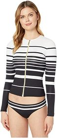 LAUREN Ralph Lauren Gradient Stripe Long Sleeve Ra