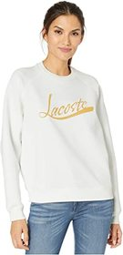 "Lacoste Long Sleeve ""Lacoste"" Graphic Sweatshirt"