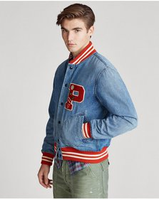 Ralph Lauren Denim Letterman Jacket
