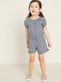 Ruffle-Hem Romper for Toddler Girls