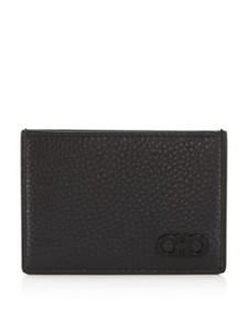 Salvatore Ferragamo - Firenze Pebbled Leather Card