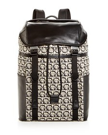 Salvatore Ferragamo - The Gancini Jacquard Backpac