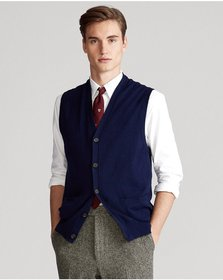 Ralph Lauren Cotton-Cashmere Sweater Vest