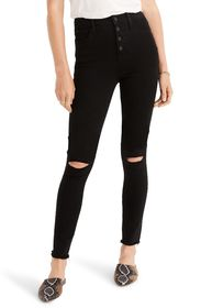 Madewell Distressed Button Fly Skinny Jeans