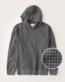 The A&F Perfect Popover Hoodie, GREY MICRO PATTERN