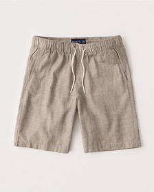 Pull-On Shorts, LIGHT BROWN