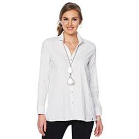 """""""As Is"""" MarlaWynne Textured Butterfly Button Down"""