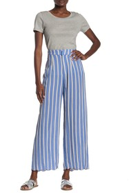 ARATTA Getting Fixed Stripe Embroidered Pants