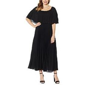 """As Is"" Antthony Couture Pleated Maxi Dress"