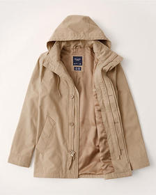 Lightweight Parka, LIGHT KHAKI
