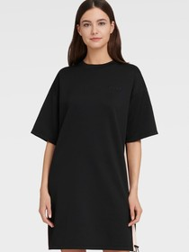 Donna Karan RUCHED DRESS WITH CONTRAST PANEL