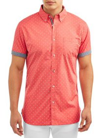 Lee Men's Short Sleeve Ditsy Print Button Down