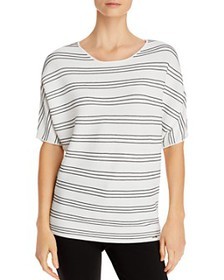 T Tahari - Elbow-Sleeve Striped Top