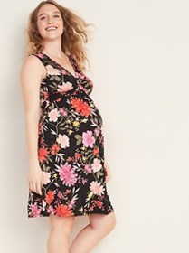 Maternity Twist-Front Jersey Dress