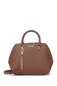 Calvin Klein Hayden Leather Satchel