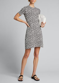 Theory Leopard-Print Tee Dress