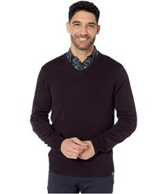Perry Ellis End-On-End Feeder Stripe Long Sleeve S