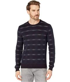 Perry Ellis Wool Blend Plaid Long Sleeve Sweater