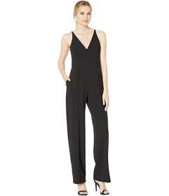 Donna Morgan Sleeveless V-Neck Crepe Jumpsuit