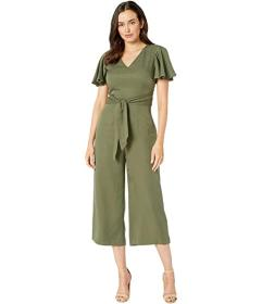 Tahari by ASL Flutter Sleeve Side Tie Jumpsuit