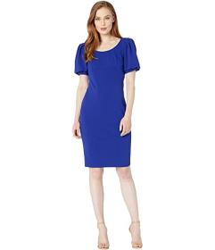 Calvin Klein Puff Short Sleeve Sheath Dress