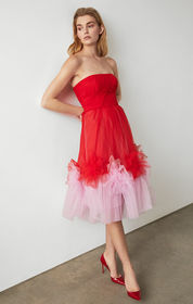 BCBG Tulle Flower Dress