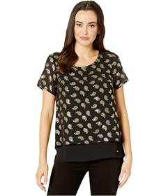MICHAEL Michael Kors Floating Foil Cut Out Back To