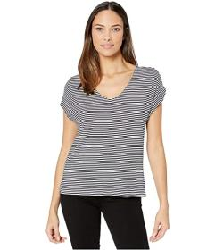Tommy Bahama Cassia Stripe V-Neck Short Sleeve Top