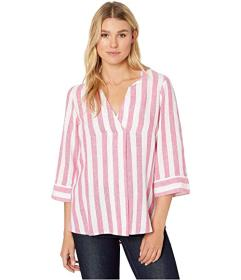 Tommy Bahama Light Stripes Tunic 3\u002F4 Sleeve