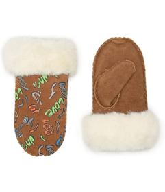 UGG Kids Suede Mitten with Sherpa Lining (Toddler\