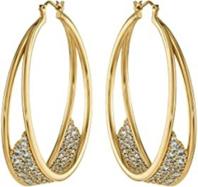 Swarovski Gilded Treasures Hoops Earrings