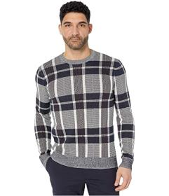 Perry Ellis Plaid Texture Crew Sweater