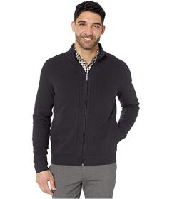 Perry Ellis Ottoman Rib Knit Full Zip Long Sleeve