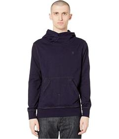 G-Star Aero Indigo Patched On Pocket Hooded Sweats