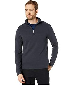 Perry Ellis Ottoman Rib Knit 1\u002F4 Zip Long Sle