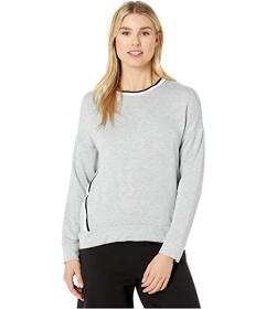 Donna Karan French Terry Long Sleeve Top