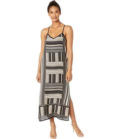 Vince Camuto Sleeveless Cross-Back Dotted Block Ma