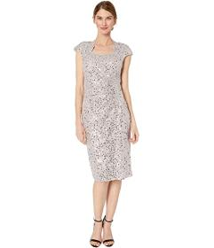 Tahari by ASL Petite Cap Sleeve Sequin Stretch Lac