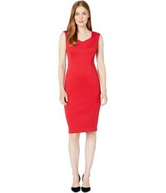 Calvin Klein Sweetheart Neck Sheath Dress