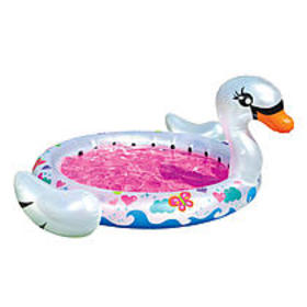Banzai Inflatable Kiddie Splash Pool - Swan